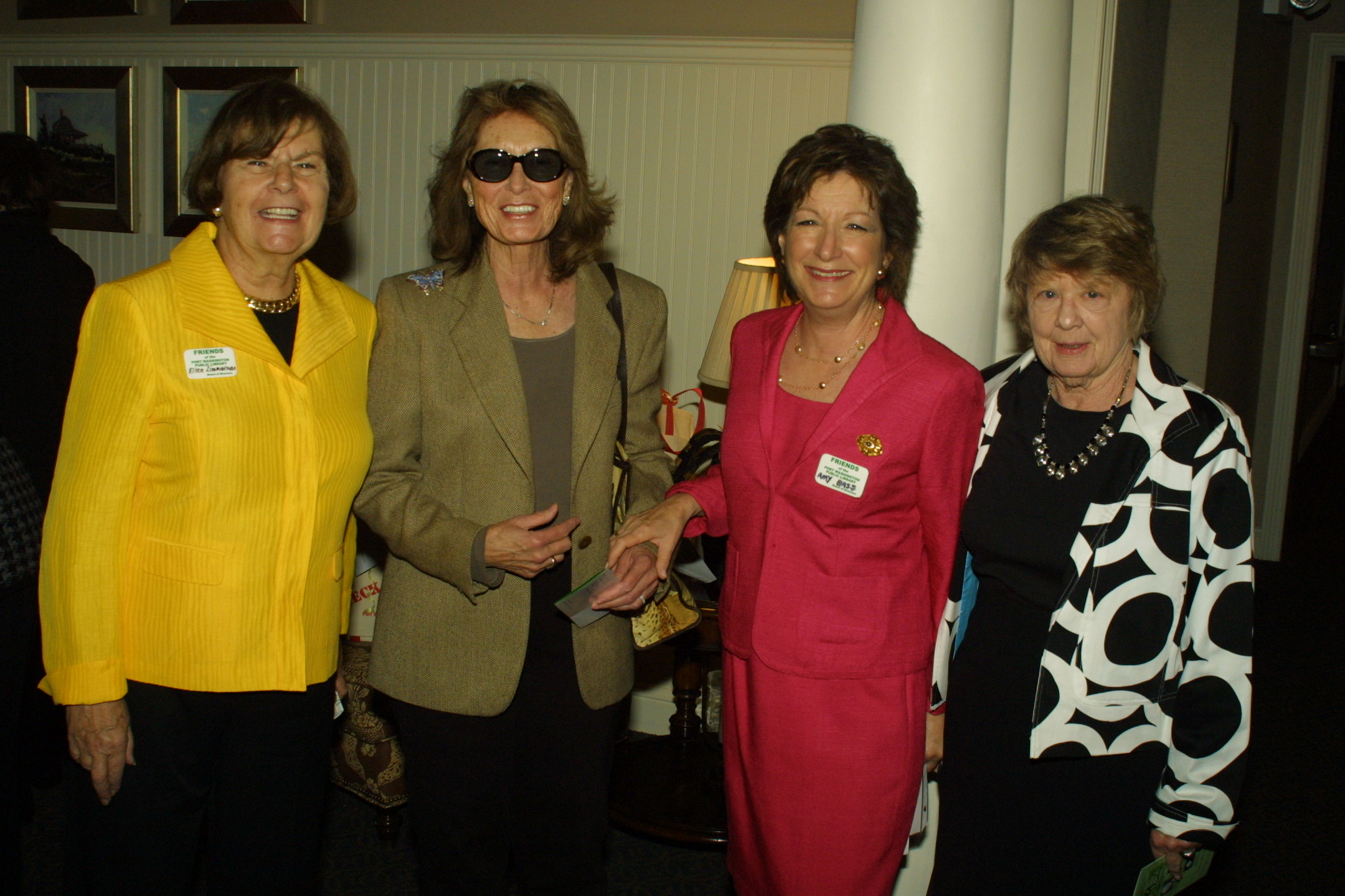 FOL Vice President Ellen Zimmerman, President Amy Bass, Kay Ullman and friend