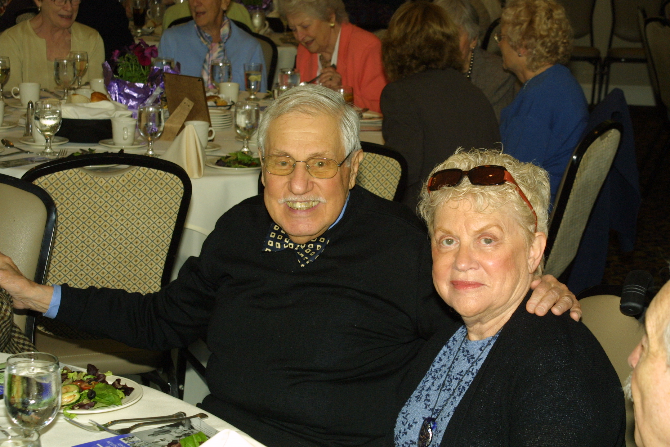 Library trustee Myron Blumenfeld and his lovely wife.