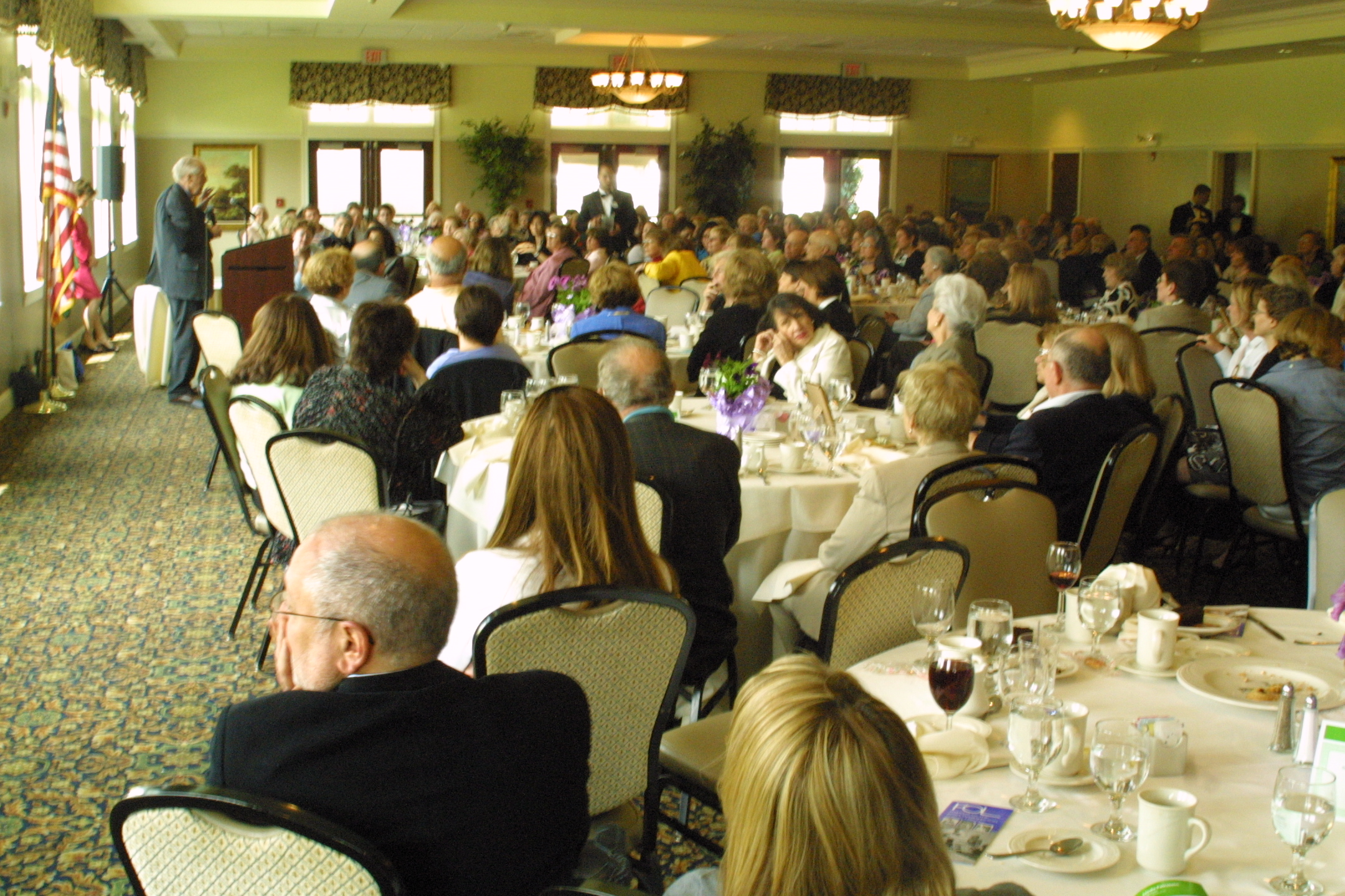 More than 220 attendees filled the dining room at the Clubhouse at Harbor Links.