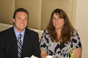 Event sponsors Thomas Mager and Jennifer Ditta from Cullen & Danowski, LLP