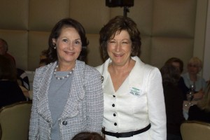 Event sponsor Judy Wertheim and Amy Bass