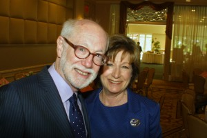 Historian David Nasaw with FOL president Amy Bass