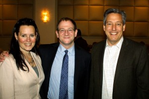 Kim Kaiman, author Will Schwalbe, and Town Supervisor Jon Kaiman (Kim is Will's cousin!)