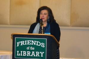 Luncheon moderator Susan Isaacs: novelist, screenwriter and Port resident
