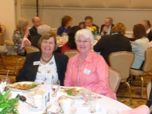 FOL vice president Ellen Zimmerman and board member Margaret DeSiervo