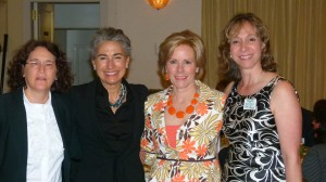 Deirdre Costa Major (second from left) representing Gold Sponsor Americana Manhasset with her guests Caryn Hirshleifer and Nancy Morris, and FOL Board member Pamela O'Connell