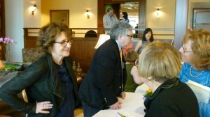 Authors Delia Ephron and Kevin Baker signed copies of their books for dozens of attendees.